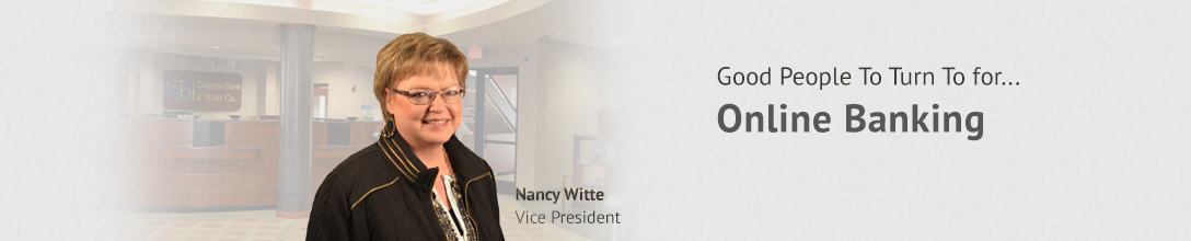 business online banking with Nancy Witte
